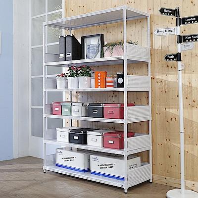 BuyJM洞洞板120x45x180cm耐重六層置物架+5組圍欄-DIY