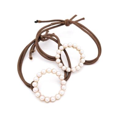 Hera 赫拉 經典合金鏤空圓形珍珠髮圈-2入組