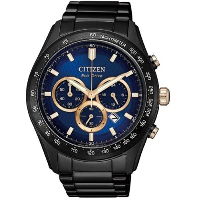 CITIZEN星辰時刻捕手光動能計時錶(CA4458-88L)-藍