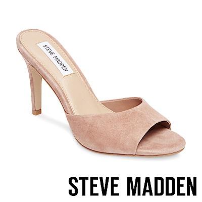 STEVE MADDEN-ERIN魚口高跟拖鞋-絨粉紅