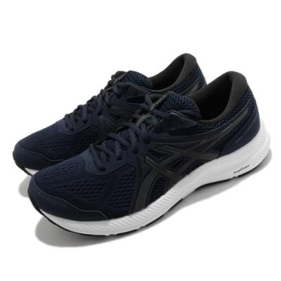 Asics 慢跑鞋 Gel-Contend 7 運動 男鞋 亞瑟士 路跑 緩震 輕量 透氣 亞瑟膠 藍 黑 1011B040400