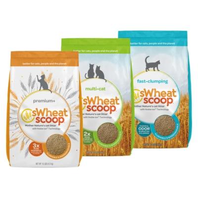 sWheat Scoop麥點| 橘標-加強除臭小麥貓砂 10磅