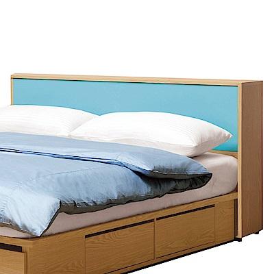 文創集 波蒂莉時尚5尺雙色雙人床頭箱-152x30x84.5cm免組