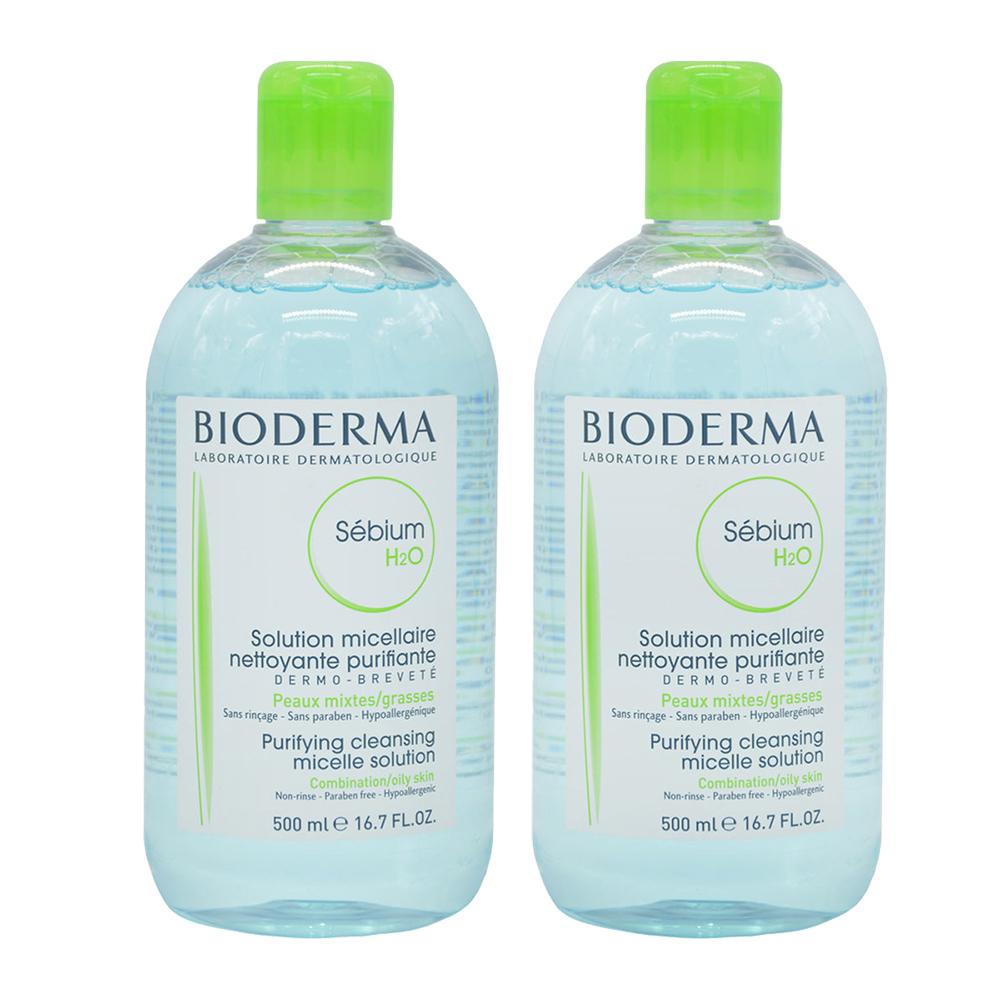 Bioderma貝膚黛瑪 平衡控油潔膚液 500ml 雙瓶組