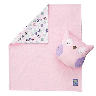 奇哥 PUP 豆趣二合一抱枕毯-粉紅