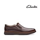 Clarks UN 全皮面套入式正裝休閒兩用鞋 深棕色