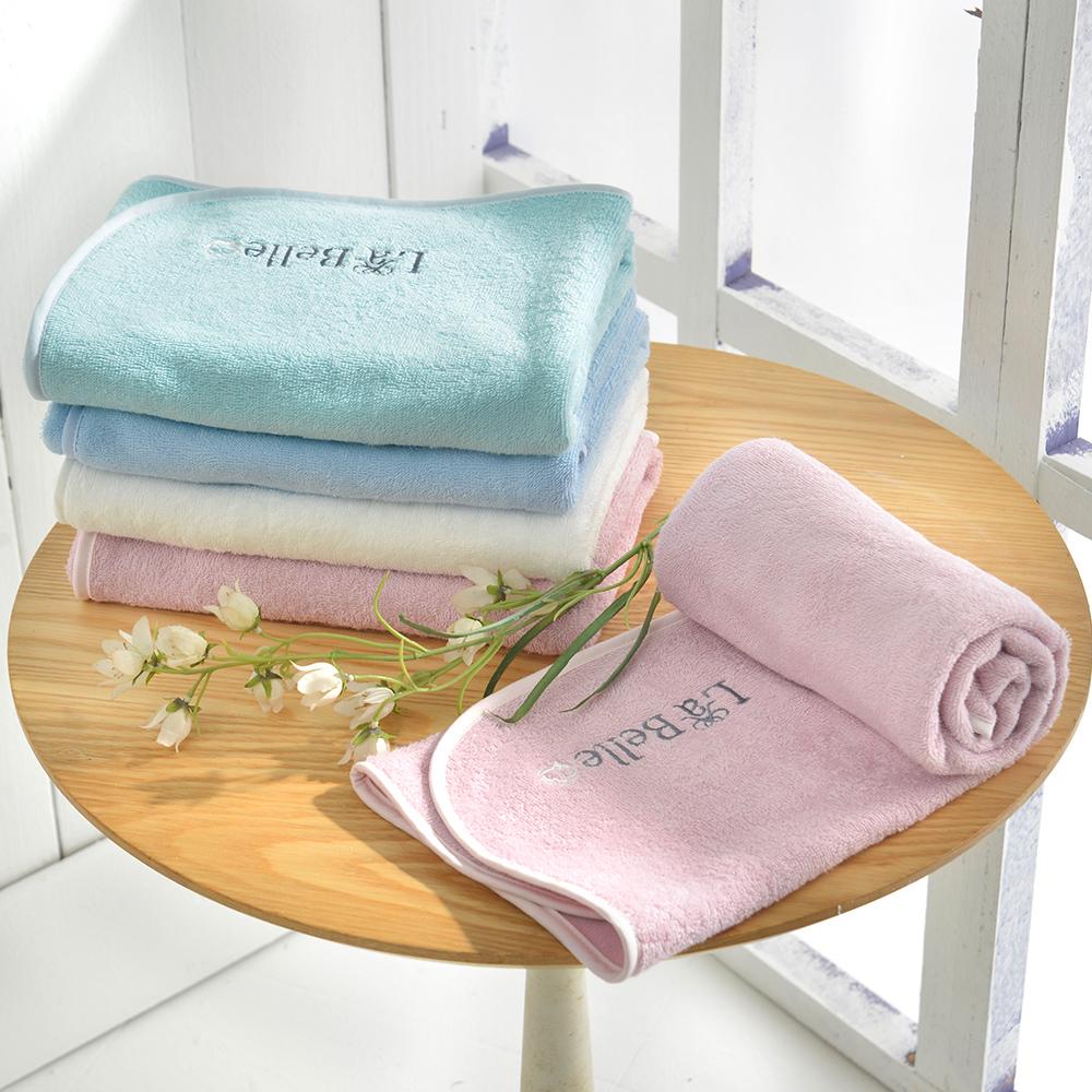 La Belle 經典刺繡 舒柔枕巾-2入-四色任選