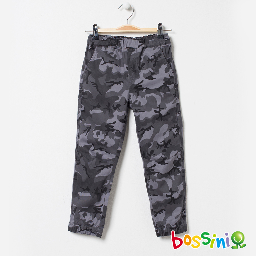 bossini男童-輕鬆束口長褲02冷灰