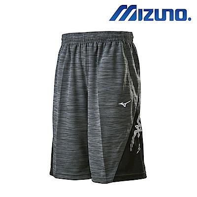 MIZUNO 美津濃 男針織短褲 麻花黑灰 32TB800288