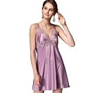思薇爾 香榭巴黎系列連身蕾絲性感小夜衣(莫蘭紫)