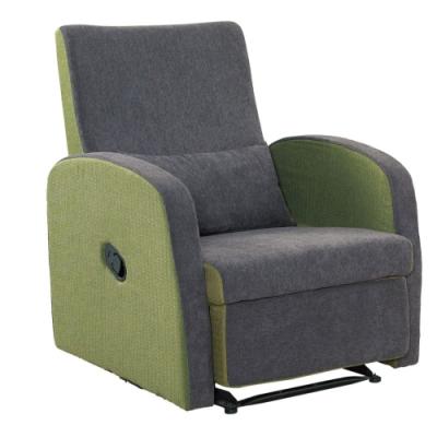 文創集 米拉雙色亞麻布單人可調式沙發椅/躺椅(二色可選)-72x71x91cm免組