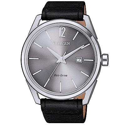 CITIZEN 星辰光動能典藏時尚真皮手錶(BM7411-16A)-灰X黑/42mm @ Y!購物