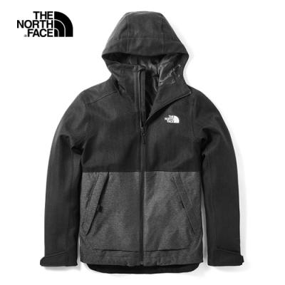 The North Face北面男款黑色防水透氣風衣外套|3VPKJ93