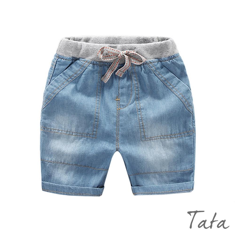 童裝 撞色腰繫帶牛仔褲 TATA KIDS