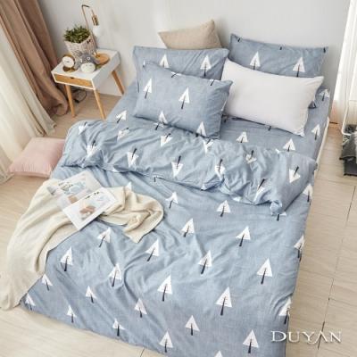 DUYAN竹漾  舒柔棉-雙人床包被套四件組-白樺秘境