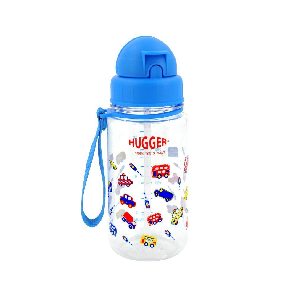 英國Hugger Tritan彈跳吸管水壺 -玩具車