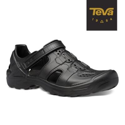 TEVA 原廠貨 男 Omnium Drift 水陸輕量護趾涼鞋/雨鞋/水鞋-黑色