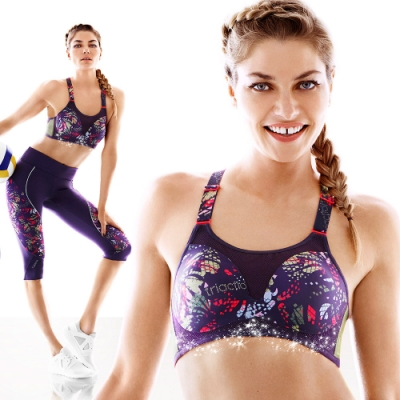 黛安芬-triaction Cardio零壓魔術運動內衣 B-D罩杯 繽紛紫