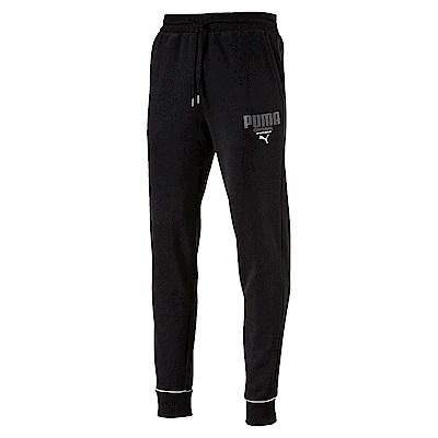 PUMA-男性基本系列運動風長褲-黑色-歐規
