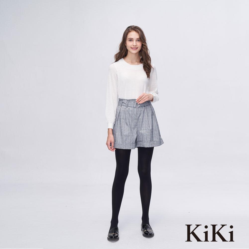 KiKi INLook 柔軟親膚圓領針織上衣(白)