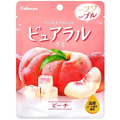 Kabaya卡巴 Pureral軟糖-白桃(45g)