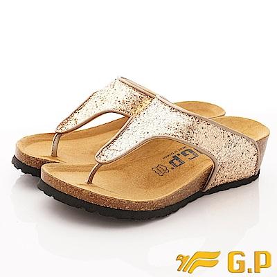 GP時尚涼拖-亮片夾腳拖款-WSE83-88金(女段)