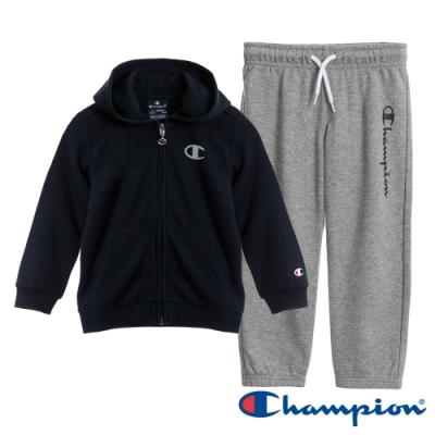 Champion EU小童連帽套裝 黑X灰