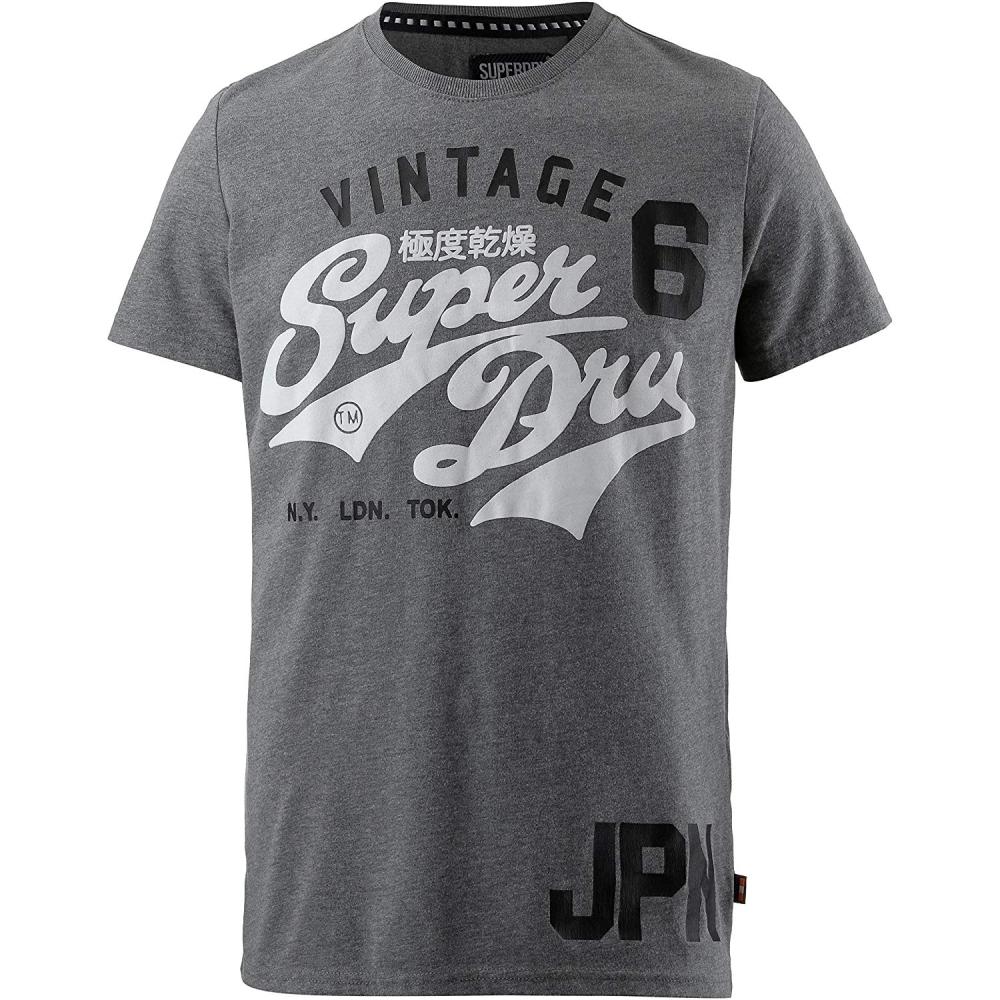 Superdry 經典印花LOGO T 恤(灰色)