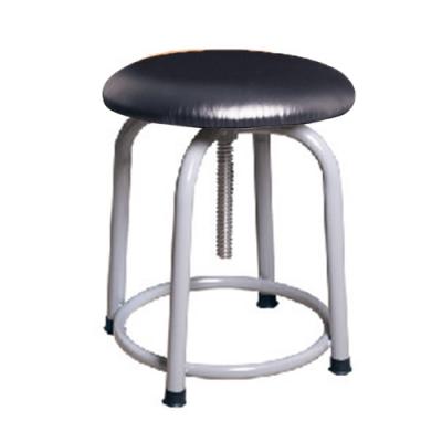 H&D 英式3088螺旋升降黑皮灰腳椅