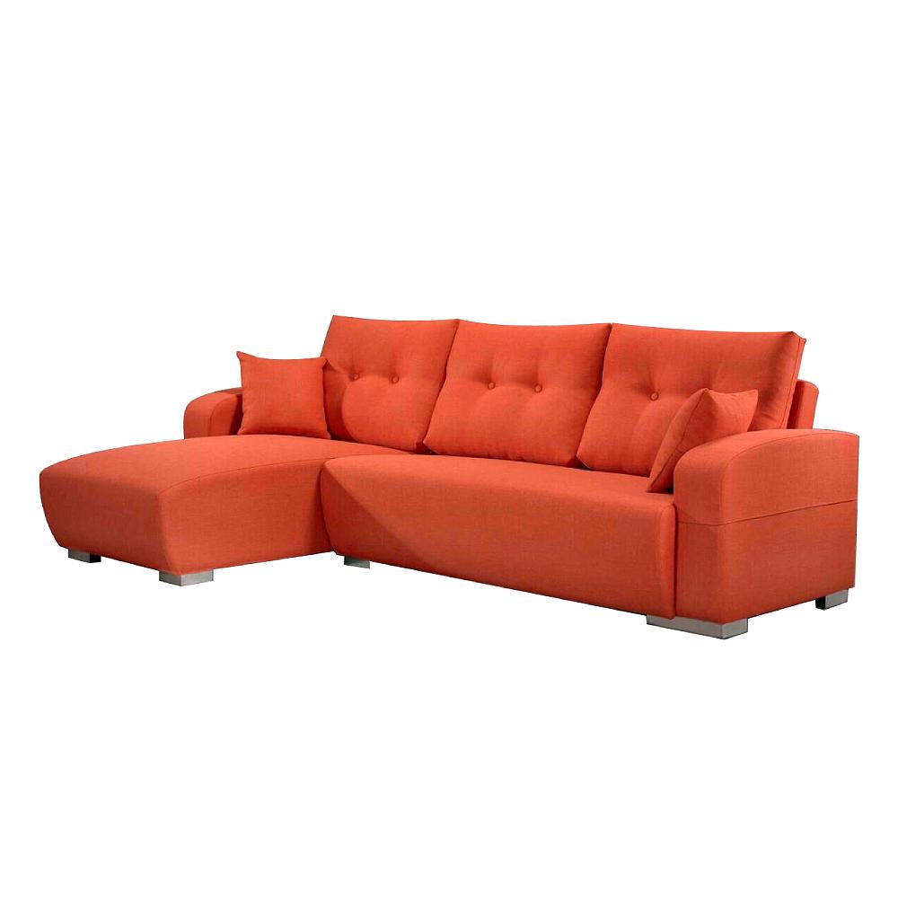 AS-康那理惟士橘布面左L型沙發280x170x97cm