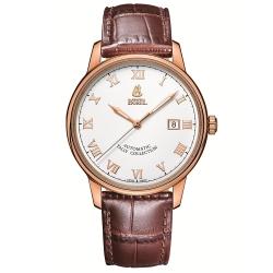 ERNEST BOREL 瑞士依波路錶 雅麗系列 5680N玫瑰金皮帶-白色40mm