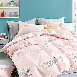 A-one 雪紡棉 單人床包/枕套 二件組 輕甜貓咪