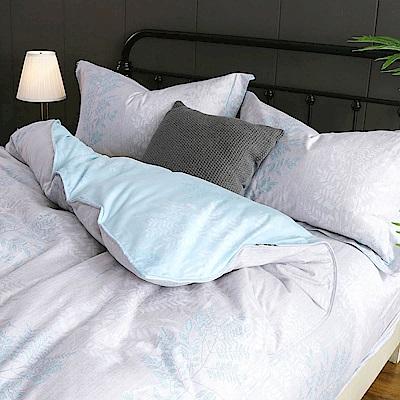 夢工場 伶伶燁然60支紗長絨棉床包兩用被組-加大