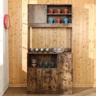 BuyJM低甲醛復古作舊高收納櫃/廚房櫃90x40x180公分