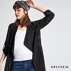 MOMA 雪紡抽繩長版外套