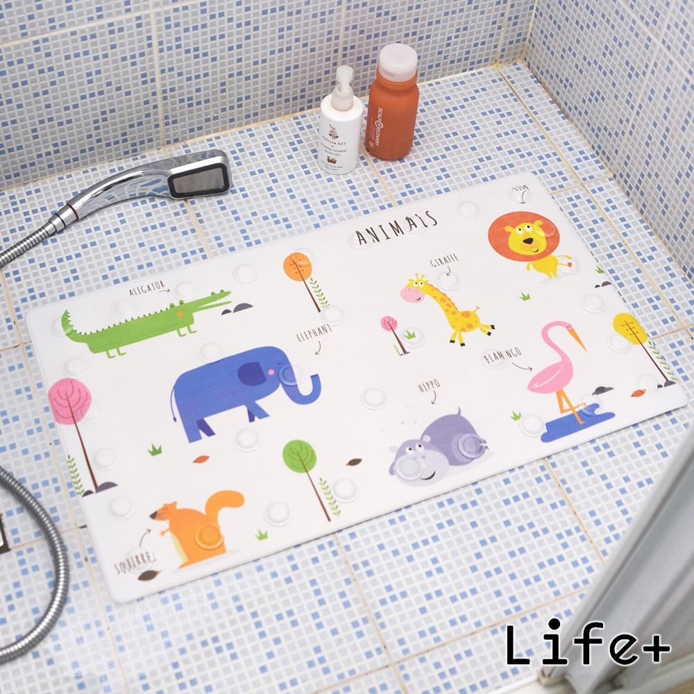 Life Plus 悠然時光浴室吸盤防滑地墊/腳踏墊 (動物)