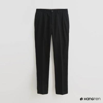 Hang Ten - 男裝 - 簡約修身休閒長褲 - 黑
