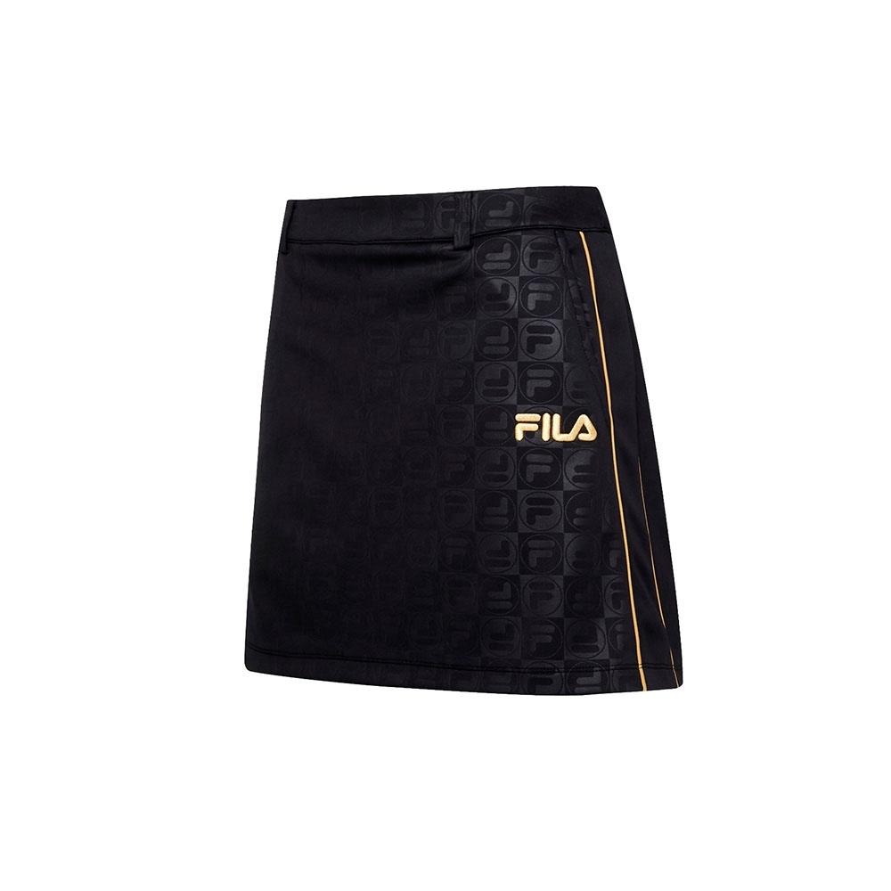 FILA 女吸濕排汗短裙-黑色 5SKT-5486-BK