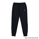 GIORDANO 男裝RETRO WAVE刺繡棉褲 - 02 標誌海軍藍