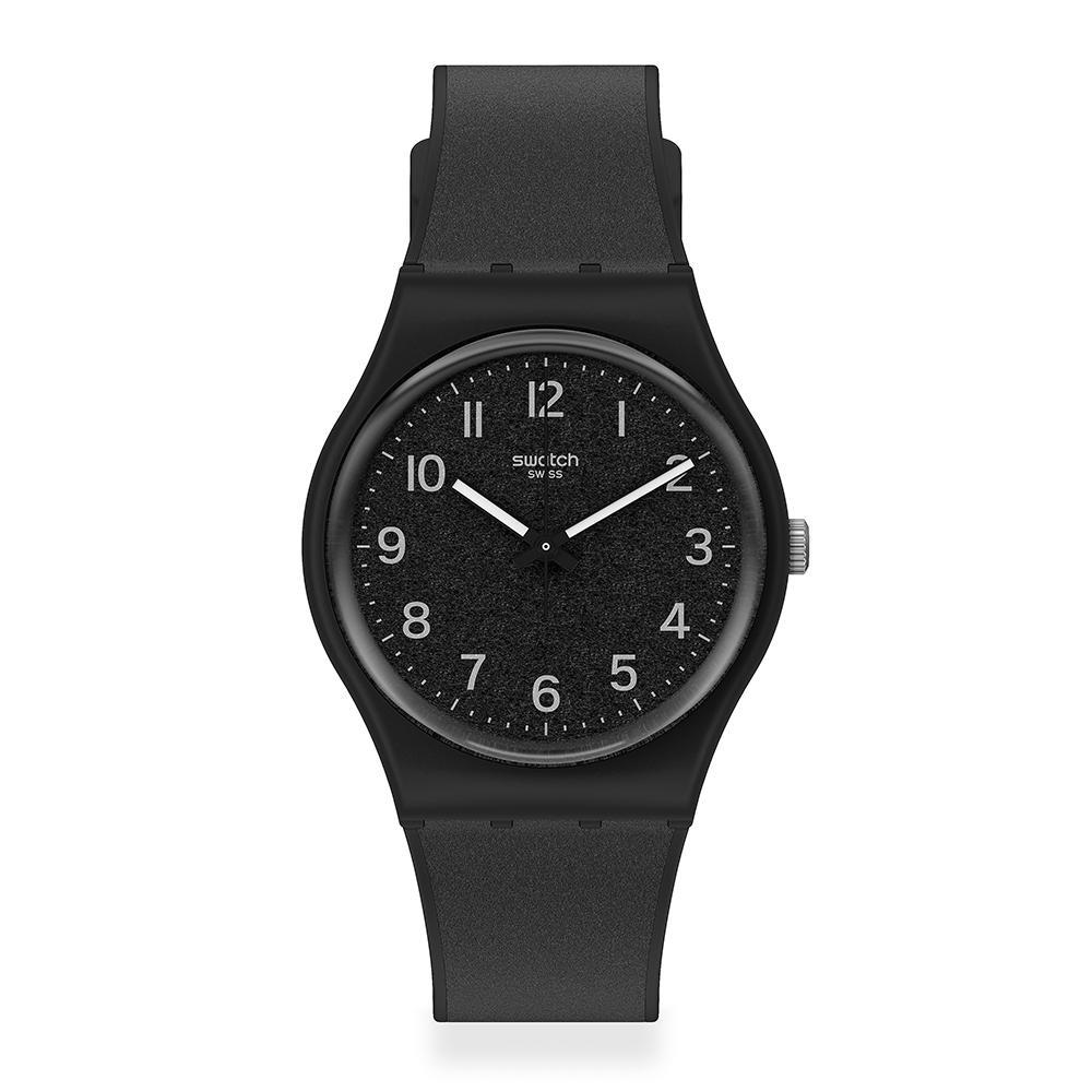 Swatch 原創系列手錶 LICO-GUM 質感黑-34mm