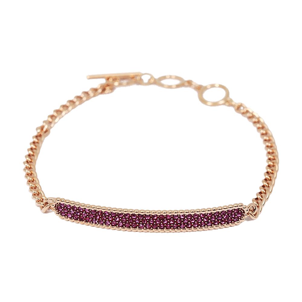SWAROVSKI 施華洛世奇 Locket Bar璀璨粉紅水晶玫瑰金手鍊手環