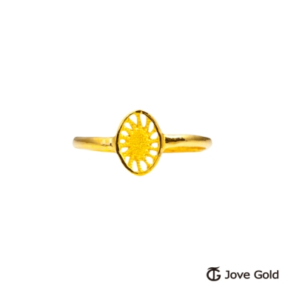 Jove Gold 漾金飾 光芒黃金戒指