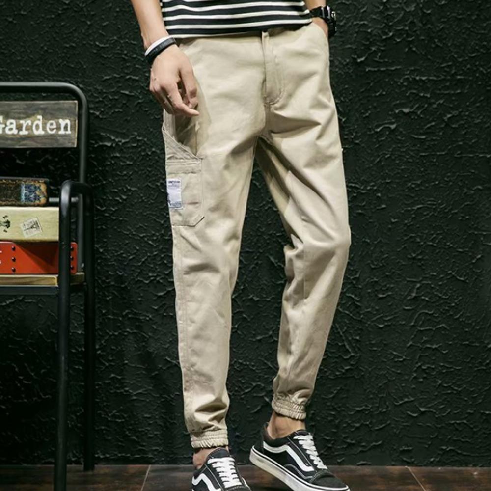 BuyGlasses 側邊口袋印花縮口長褲