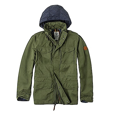 Timberland 男款深橄欖綠戶外耐磨迷彩元素M65夾克外套|A1UEM
