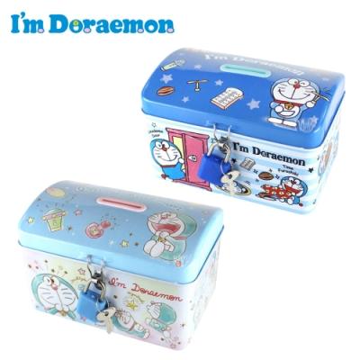 日本正版 哆啦A夢 鐵盒 存錢筒 小費盒 小叮噹 DORAEMON