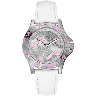GUESS 花漾晶鑽氣質女腕錶-白-W95037L2-36mm