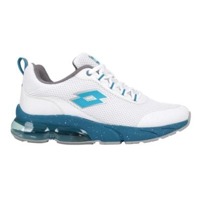 LOTTO 男氣墊跑鞋-運動 慢跑 反光 避震 LT1AMR3026 白藍綠