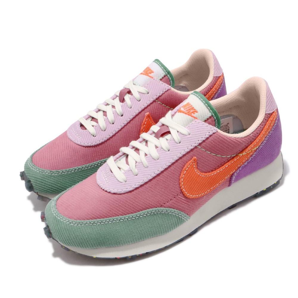 Nike 休閒鞋 W Daybreak 復古 彩色果凍底 女鞋 拼接 燈芯絨 馬卡龍 米白 粉 黃 藍 DA1471683