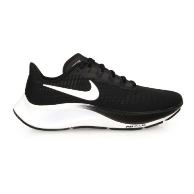 NIKE WMNS AIR ZOOM PEGASUS 37 女慢跑鞋-路跑 飛馬 BQ9647002 黑白
