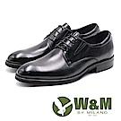 W&M 基本款素面正裝紳士皮鞋 男鞋 - 黑